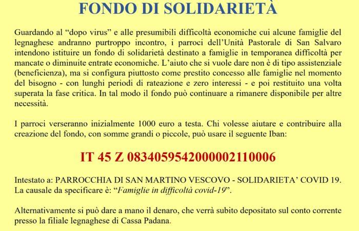 Fondo di solidarietà per le famiglie in difficoltà – covid19