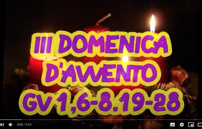 VANGELO RAGAZZI – III DOMENICA D'AVVENTO … Il testimone!