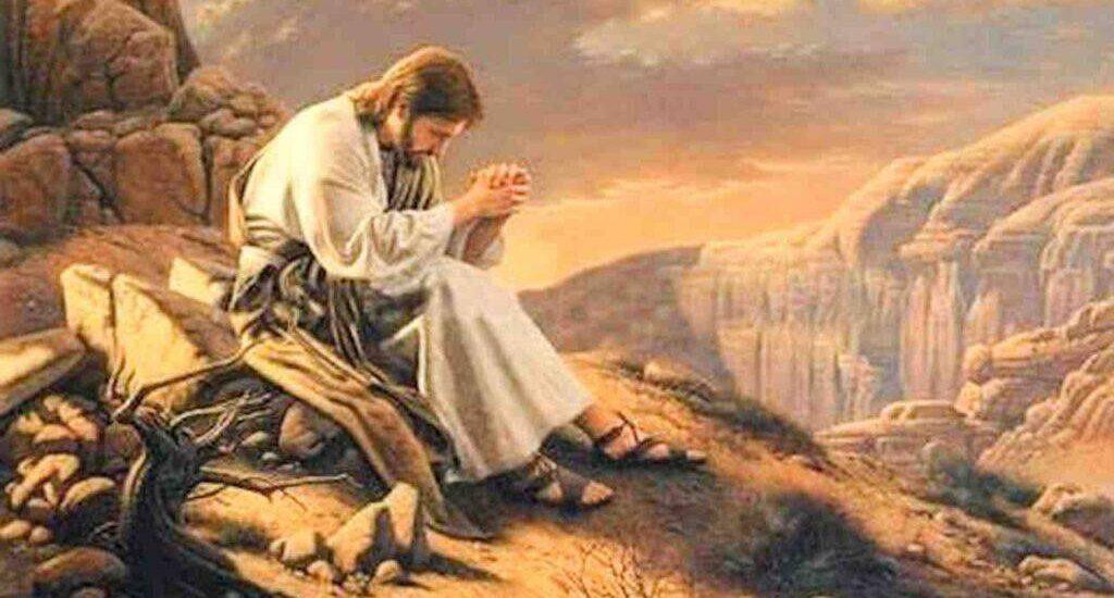 Gesù, tentato da Satana, è servito dagli angeli.  + Dal Vangelo secondo Marco 1,12-15